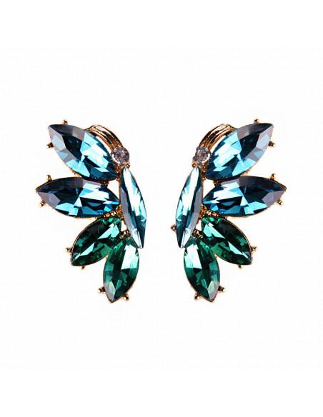 Cercei eleganti Papillon en Vent, fluturi din cristale colorate