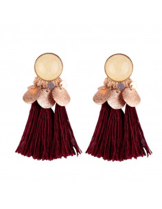 Cercei Gipsy Dancer, medalioane semisferice, banuti si canafi