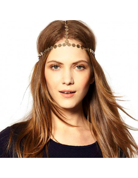 Bentita hippie, bentita boho chic cu banuti aurii
