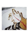 Cercei tip ear cuff, model fantezie in zig-zag, pe ureche