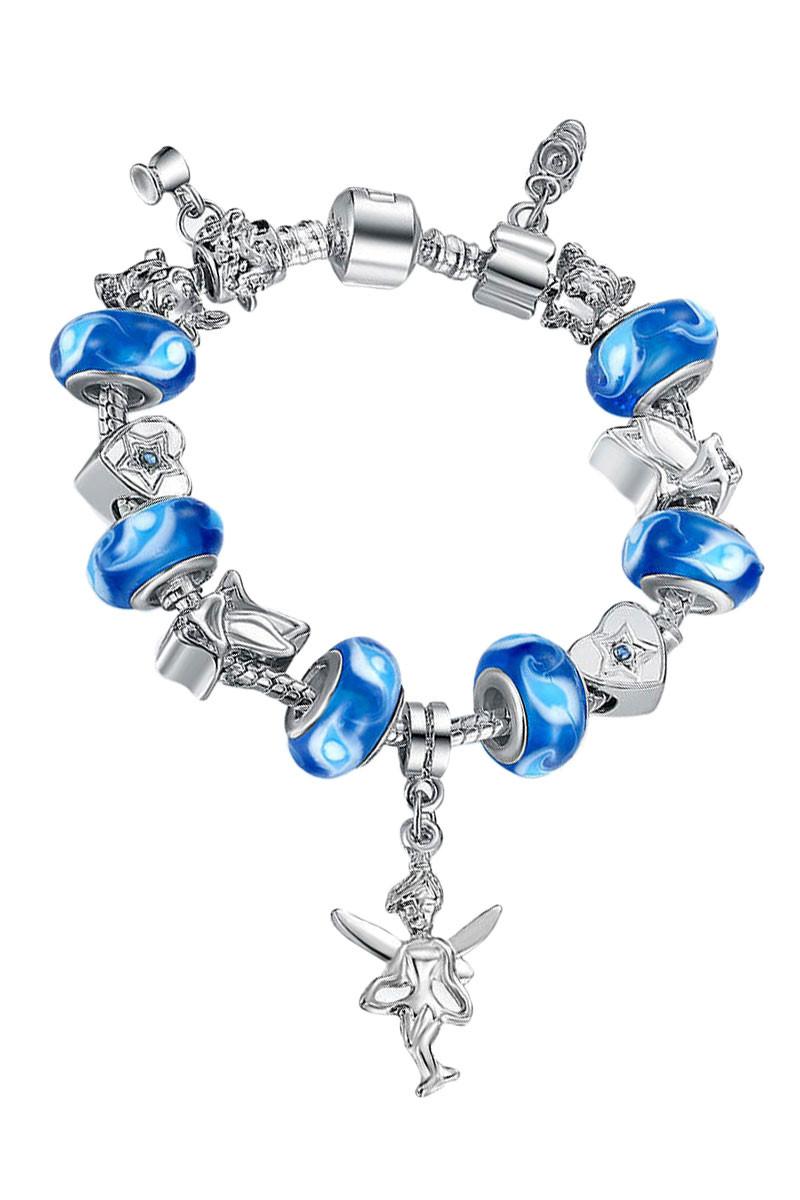 Bratara placata cu argint tip Pandora, Blue Fairy