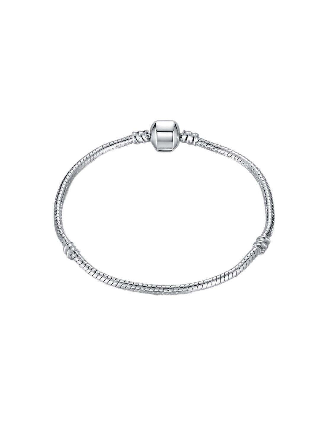 vânzare la cald cel mai bun angrosist noi de înaltă calitate Bratara tip Pandora placata cu argint, snur simplu