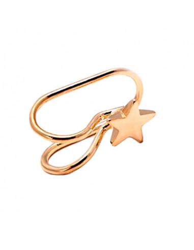 Cercel ear cuff, model simplu cu steluta, foarte mic si delicat