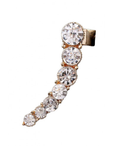 Cercel ear cuff elegant, 7 cristale albe rotunde