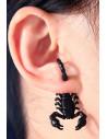 Cercel ear cuff, scorpion cu coada arcuita