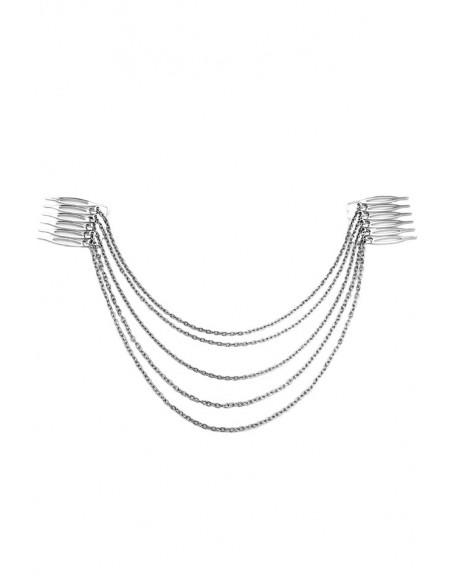 Piepteni decorativi pentru par cu lanturi lungi