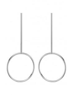 Cercei minimal, tija lunga cu inel mare Pendulum