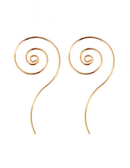 Cercei minimal spiralati, cu coada lunga