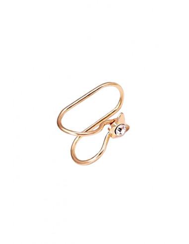 Cercel ear cuff, model cu fluturas si cristal, foarte mic si delicat
