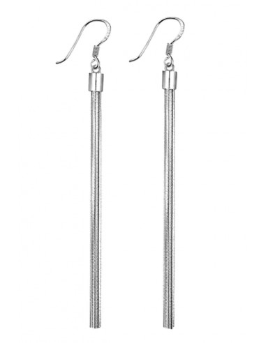 frumos ieftin cel mai bun angrosist guantitate limitată Cercei placati cu argint, cu franjuri din lantisor tip snur