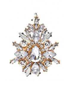 Inel luxury Crystal Cross, cruce stilizata, cu cristale stralucitoare
