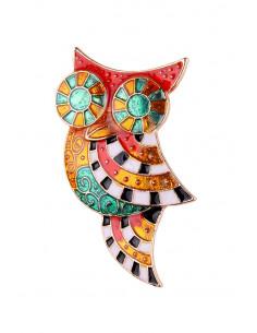 Brosa bufnita mozaic multicolor vopsita manual