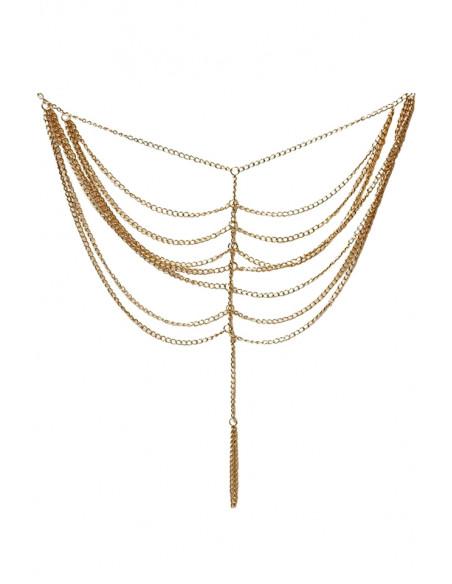 Bratara cu inel pentru glezna, din multe lantisoare pe laterale