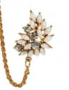 Cercel ear cuff, model aripa cu perle si cristale