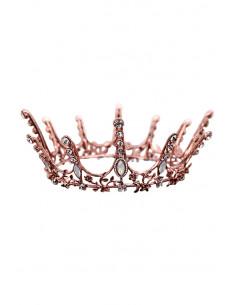 Coroana masiva aramie, Xandria, frunze, flori si cristale opalescente