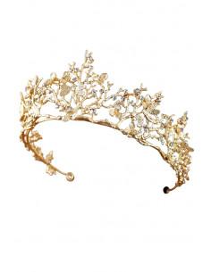 Tiara Fairy Princess, model fantezie cu libelule, flori si cristale