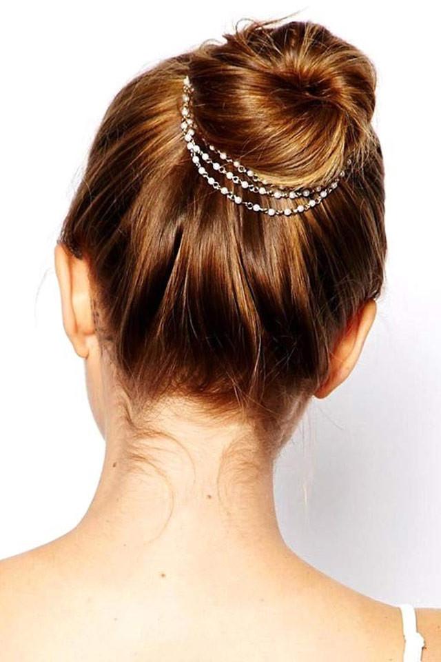 Agrafe de par cu lantisoare si perle