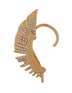 Cercel tip ear cuff, model statement Hawk Wing cu cristale