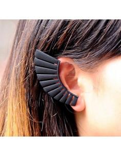 Cercel tip ear cuff negru,...