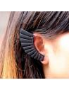 Cercel tip ear cuff negru, creasta de coif roman