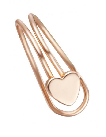 Cercel ear cuff, model simplu cu inimioara, foarte mic si delicat
