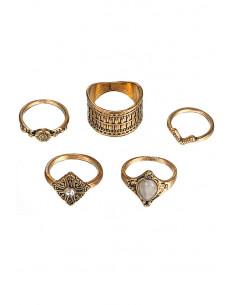Set 5 inele vintage glam,...