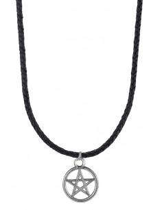 Snur negru cu medalion Pentagrama