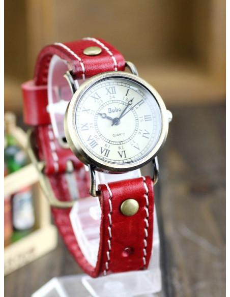 Ceas vintage Wiser, model simplu nautic, cadran rotund, ceas vintage curea lata
