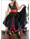 Rochie de ocazie cu fusta asimetrica din tafta si corset
