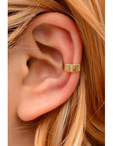 Cercel ear cuff simplu, inel lat lucios