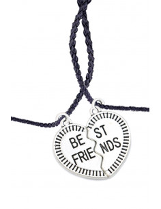 Set doua snururi impletite cu medalioane Best Friends