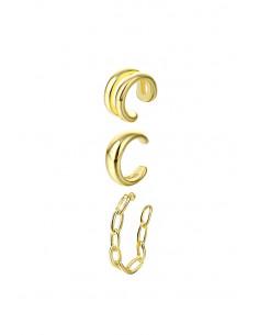 Set elegant de cercei ear cuff, verigute, simpla, dubla si impletita