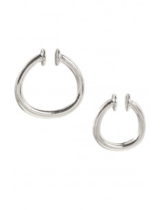 Set de 2 cercei ear cuff masivi, verigi mari simple