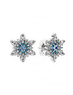 Cercei eleganti, stelute cu cristale mici, albe si bleu