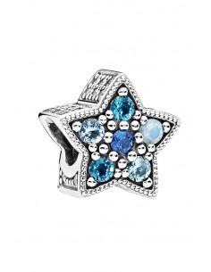 Charm pentru bratara, steluta cu cristale albastre