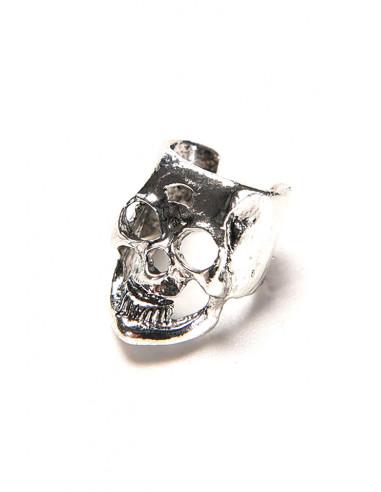 Cercei ear cuff punk, model craniu