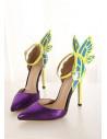 Pantofi inalti cu fluture decupat pe calcai
