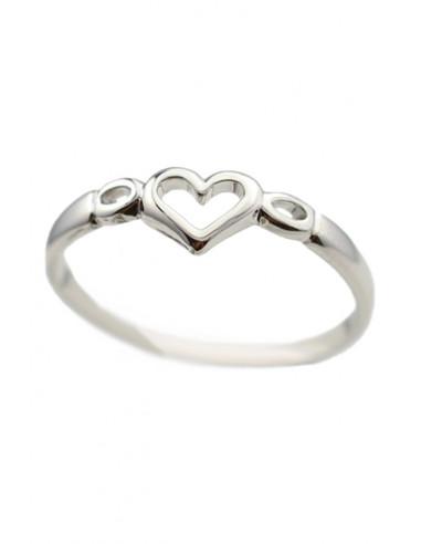 Inel midi cu inimioara, model minimal pentru deget, valentines day