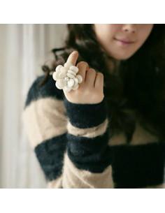 Inel cu floare mare, cu...