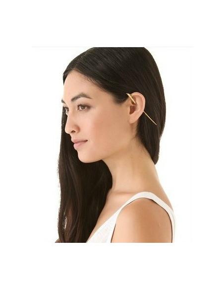 Cercei tip ear cuff, sarma ce trece prin ureche, prindere peste ureche, cercei earcuffs