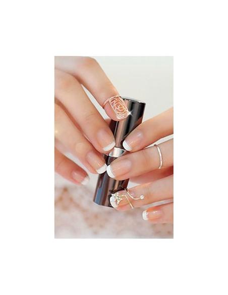 Inel pentru unghie, cu floare