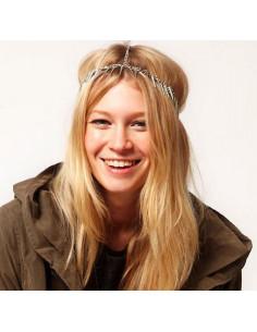 Bentita hippie, bentita boho chic cu lantisoare si tepi argintii