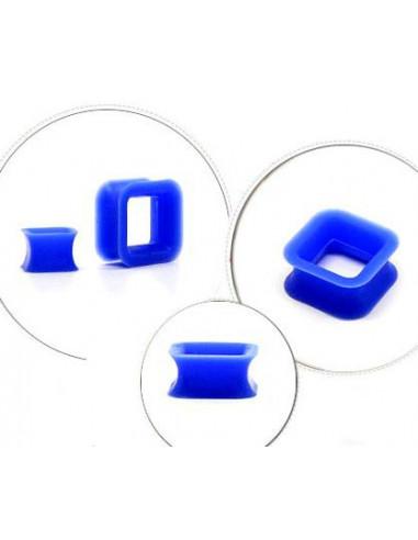 Flesh Tunnel patrat din silicon moale albastru