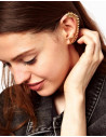 Cercel tip ear cuff, model scarita aurie pe toata urechea