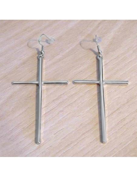 Cercei cu cruce, cercei mari cruci lungi model punk