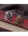 Cercel ear cuff, coroana antica patinata
