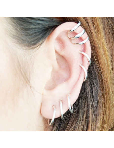 Cercel ear cuff, model helix cu 3 bare