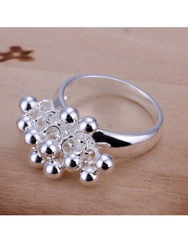 Inel elegant, din argint, model cu ciorchine