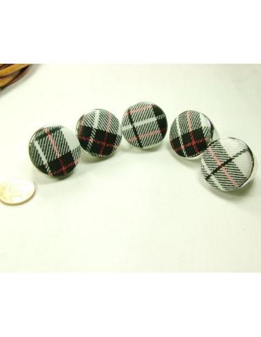 Inel argintiu prevazut cu material textil in partea superioara, inel fashion, inel buton