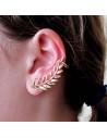 Cercel tip ear cuff, model ramurica subtire aurie cu cristale